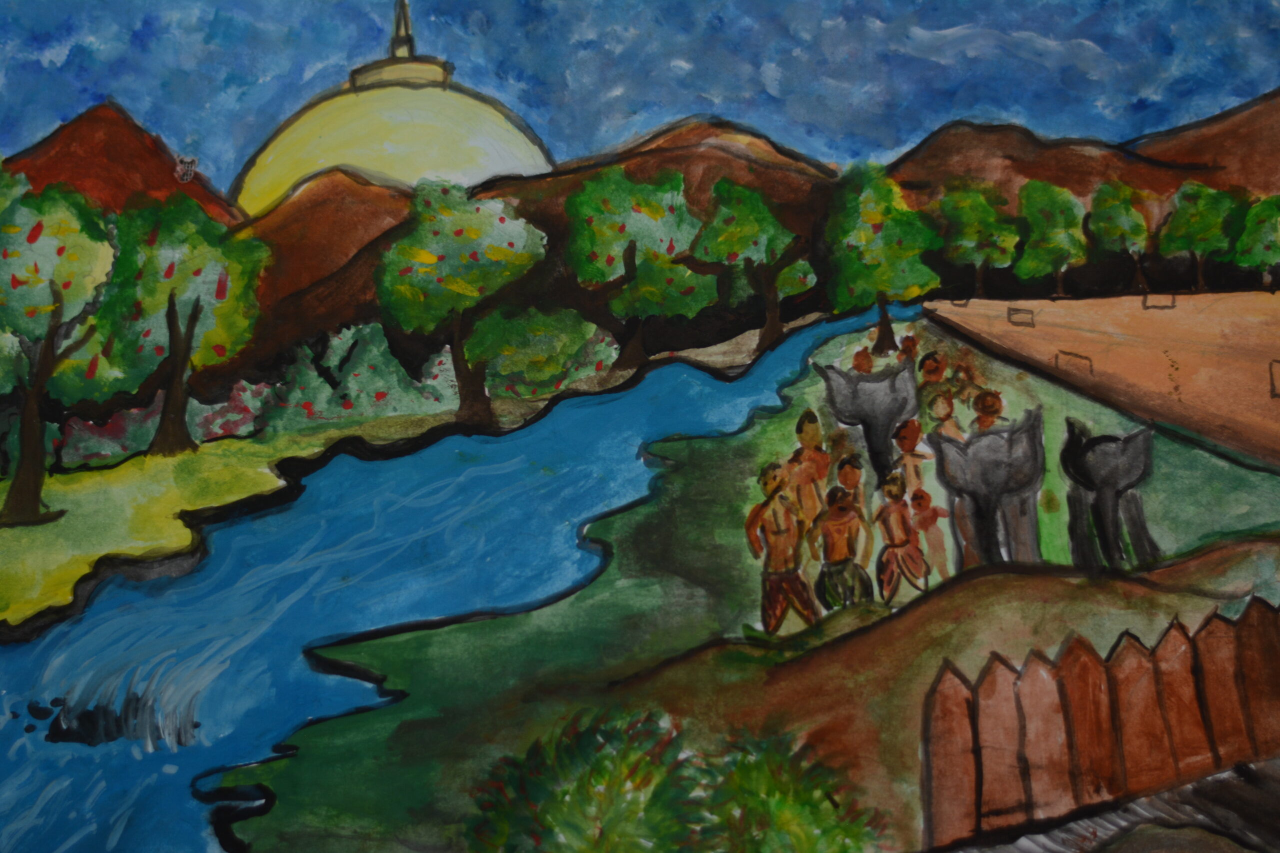 A scene from a conflict between invaders and native armies_H.R.Muwindu Lakshan Bandara