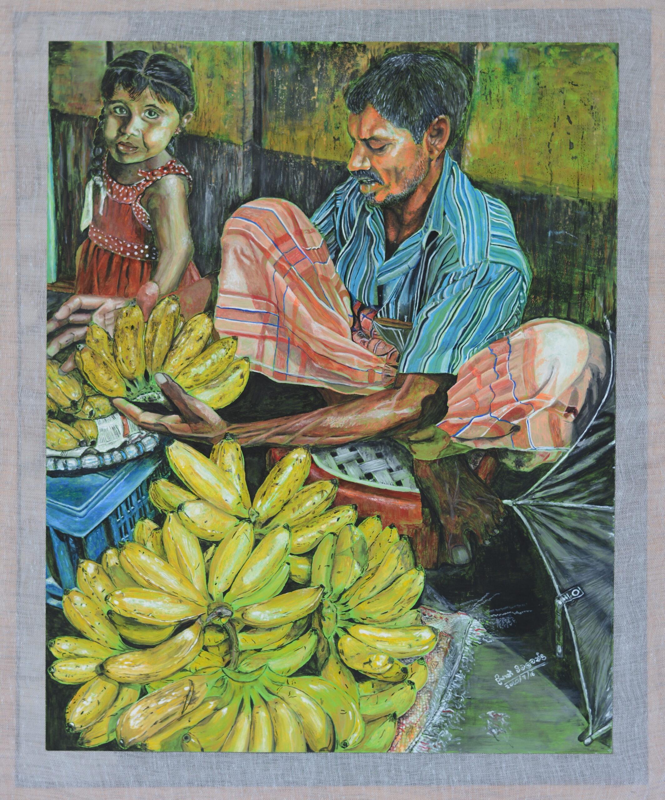 Banana seller and his daughter_Priyan Wimalachandra