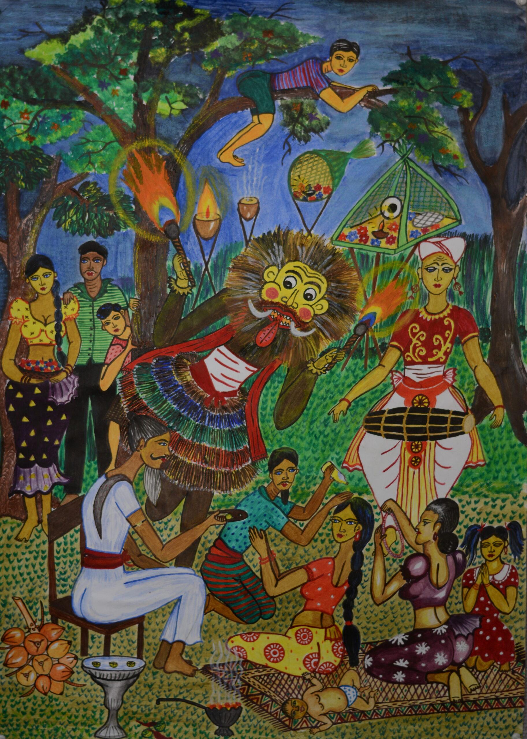 Traditions ceremonial events (Offering to Gods)_V. A. Dilshi Mayushani Vengappuli Arachchi